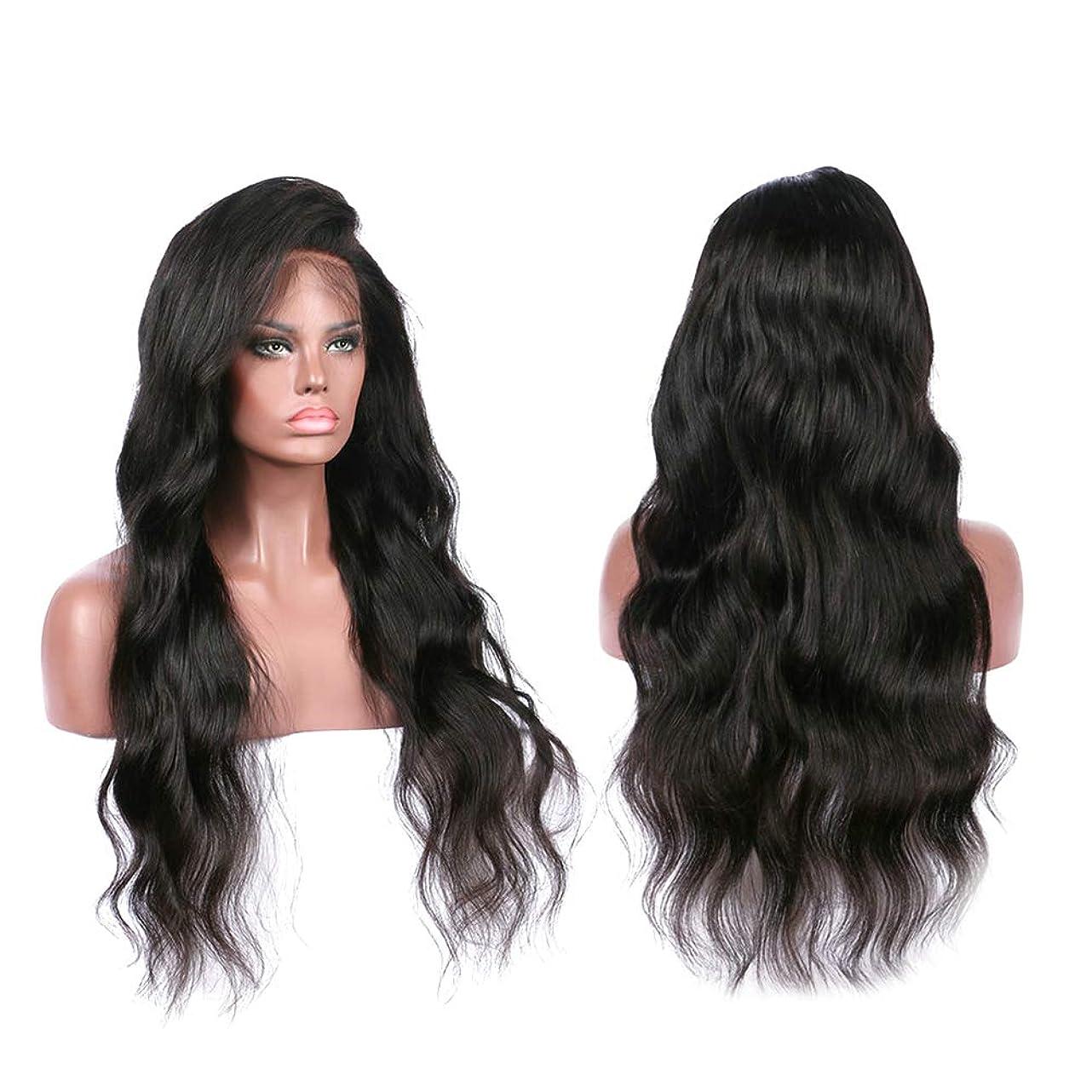 基準うなる蓮ヨーロッパの女性のレースフロントかつら女性のための長い巻き毛の人工かつら(LS-094)