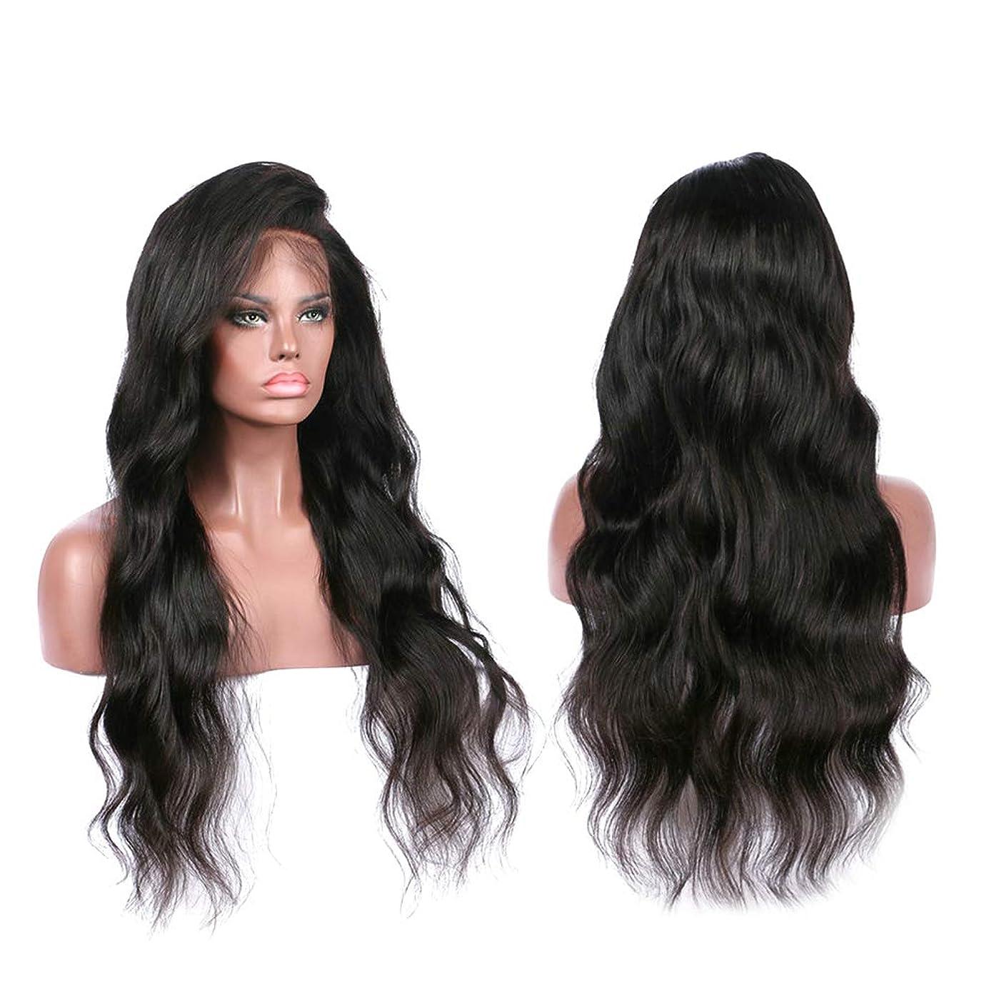 最初約告白ヨーロッパの女性のレースフロントかつら女性のための長い巻き毛の人工かつら(LS-094)