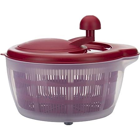 Westmark Essoreuse à Salade, Capacité : 5 litres, ø 26 cm, Plastique, sans BPA, Fortuna, Couleur : Transparent/rouge, 24322260