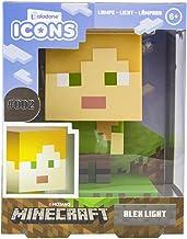 Paladone Minecraft Alex Icon-Licht BDP Mini-nachtlamp grappig Pixelated Super Bright verzamelstuk, meerkleurig