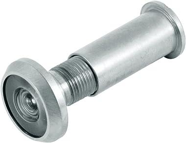 Defender Security U 10312 Door Viewer, 9/16 In. Bore Diameter, Solid Brass Housing, Satin Nickel Finish