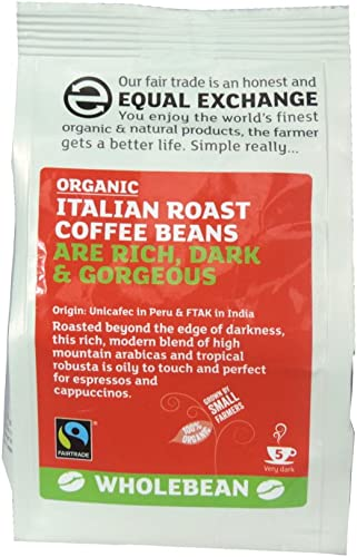 Equal Exchange - Italian Roast Fresh Coffee Beans - 227g (Case of 8)