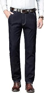 Men' Fleece Lined Skinny Jeans Winter Slim Fit Thicken Warm Stretch Pants