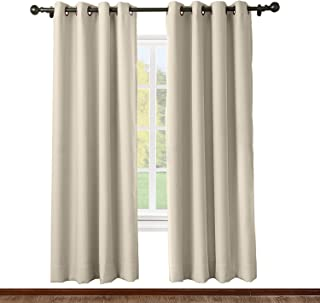 ChadMade Solid Thermal Insulated Blackout Curtain Drape Antique Bronze Grommet/Eyelet..