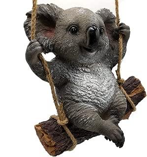 KERDITOO Koala Garden Statue Ornaments 9.84 Inches Polyresin Animal Outdoor/Indoor_Living Sculpture Decorations Natural color