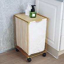 High capacity laundry basket Dirty clothes iron-storage basket washable canvas basket drawer budget,Gold