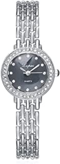 naivo Women's Quartz Stainless Steel and Gold Plated Watch, Color:Silver-Toned (Model: 1)