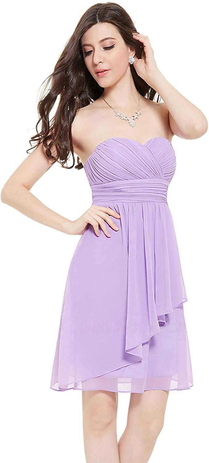 Loffy Women's Bridesmaid Formal Short Homecoming Dress