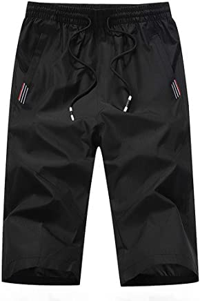 Hmlai Clearance Men Shorts Casual Elastic Waist Slim Fit Big and Tall Quick Dry Beach Sports Athletic Pants with Pockets