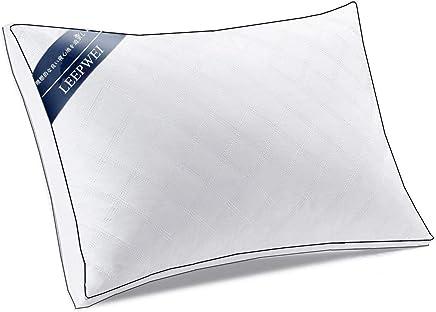 LEEPWEI 枕 安眠 人気 肩こり 良い通気性 快眠枕 高反発枕 高度調節可能 立体構造 いびき防止 頚椎サポート 丸洗い可能 高級ホテル仕様 43x63cm ホワイト 家族のプレゼント