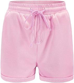 desolateness Womens Shorts Elastic Waist Drawstring Lounge Shorts with Pocket