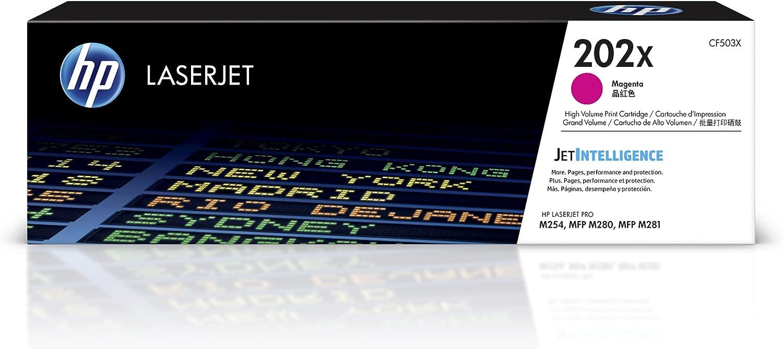 HP 202X | CF503X | Toner-Cartridge | Magenta | Works with HP LaserJet Pro M254, M281cdw, M281dw, M281fdw | High Yield