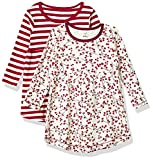 Touched by Nature Girls' Baby Organic Cotton Short Dresses, Berry Branch Long Sleeve, 5-Toddler