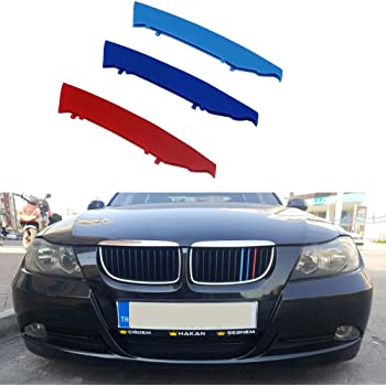 2 Door Coupe 11 Grilles 2003-2006 Maite 3D MotorSport Front Grille Trim Strips Grill Cover Decoration Stickers for BMW 3 Series E46