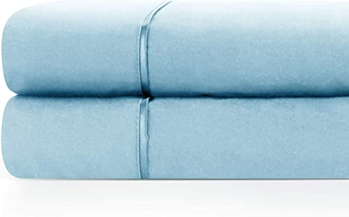 2021 Zen Home Luxury Flat Sheet (2-Pack) - 1500 Series Luxury Brushed Microfiber w/ Bamboo Blend Treatment - Eco-friendly, online Hypoallergenic and Wrinkle Resistant - Queen - wholesale Sky Blue outlet online sale