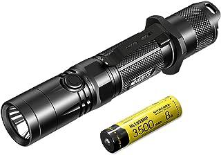 Nitecore MH12GTS zaklamp, 1800 lumen, oplaadbaar, via USB, zwart