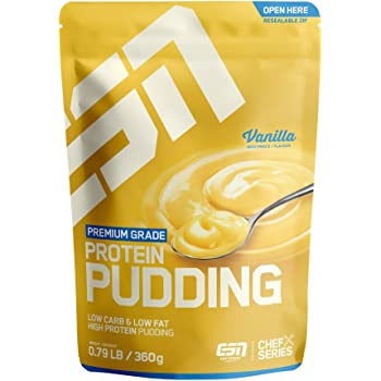 ESN Protein Pudding – 360 g – Vanilla – High-Protein-Pudding-Pulver – cremig & lecker – 12 Portionen – schnell gemixt – Made in Germany