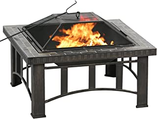 BALI OUTDOORS Wood Burning Fire Pit, 30', Black