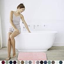 Walensee Large Bathroom Rug (24 x 40, Blush) Extra Soft and Absorbent Shaggy Bathroom Mat Machine Washable Microfiber Bath Mat for Bathroom, Non Slip Bath Mat, Luxury Bathroom Floor Mats Rubber Back