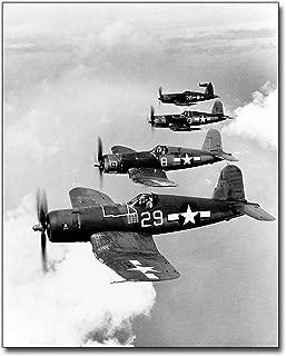 Vought F4U-1A Corsair Fighters in Flight 8x10 Silver Halide Photo Print