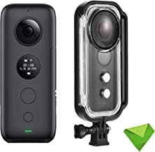 Insta360 One X OneX Insta 360 Degree 4K Panoramic Action Camera with FlowState Stabilization Real-Time WiFi Transfer 5.7K Video 18MP Photo for YouTube Vlog Live with EACHSHOT Waterproof Housing Case
