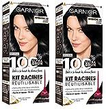 Garnier–100% Ultra Castano–Kit per ritocco della ricrescita –Set di 2