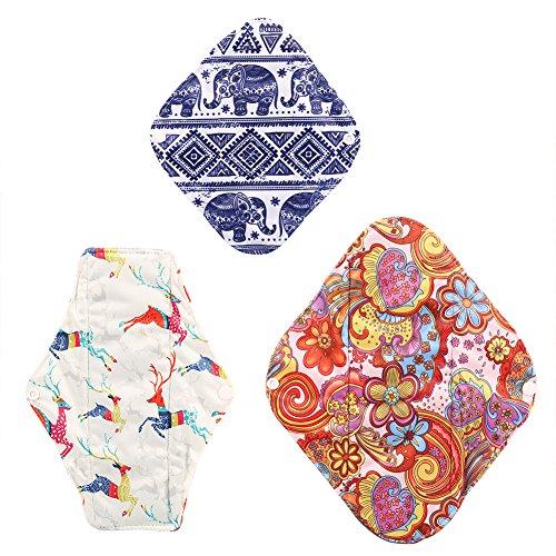 Herbruikbare reinigingsdoek, 3 stuks bamboehoutskool, wasbaar, absorberende handdoek Panty #1