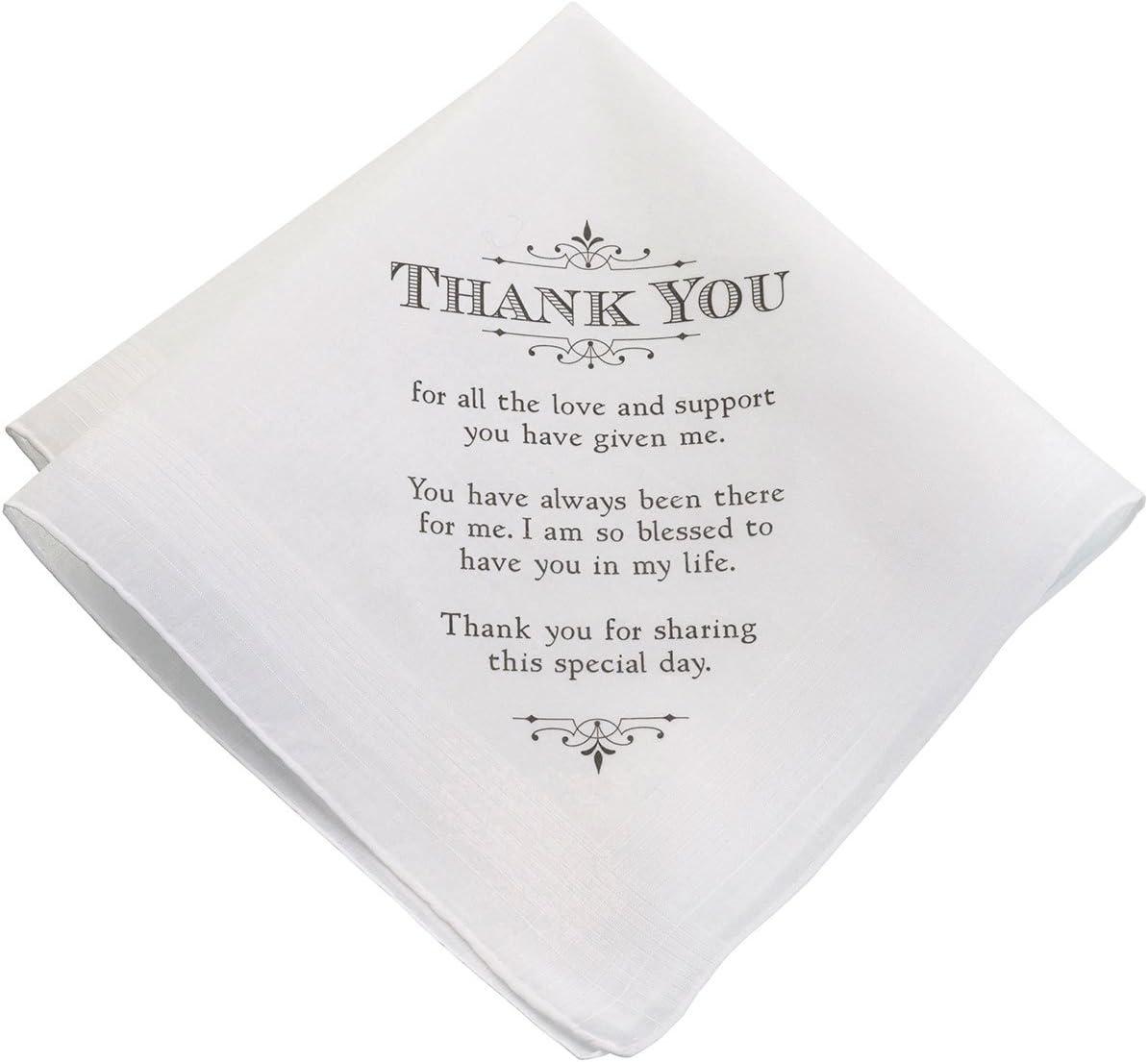 Lillian Rose Men's Thank You Verse Wedding Gift Keepsake Hankie, 7.7