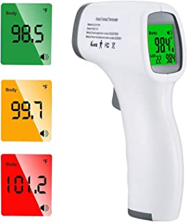 Forehead Thermometer, 【Fast Delivery】Digital Infrared Thermometer for Kids and Adults, Non-Contact Digital Thermometer wit...
