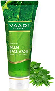 Vaadi Herbals Anti Acne Neem Face Wash with Tea Tree Extract, 60g