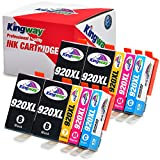 Kingway Compatible Ink Cartridge Replacement for HP 920 XL Work with HP Officejet 6500 6500A Plus 7500 7500A 7000 6000 E709 Printer (4 Black,2 Cyan,2 Magenta,2 Yellow) 10-Pack