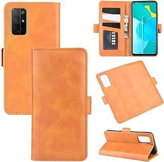 革製電話ケース Huawei Honor 30Sデュアルサイドマグネットバックルホリゾンタルフリップレザーケース、ホルダー&カードスロット&ウォレット付き