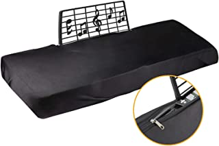 Explore Land 61/88 Keys Piano Keyboard Dust Cover with Music Stand Opening 61 Keys black