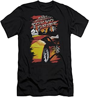 Tokyo Drift Drifting Crew Slim Fit Unisex Adult T Shirt for Men and Women