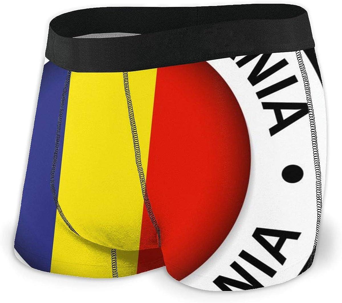 Mens Boxer Briefs Vector Romania Flag Icon Breathable Underwear