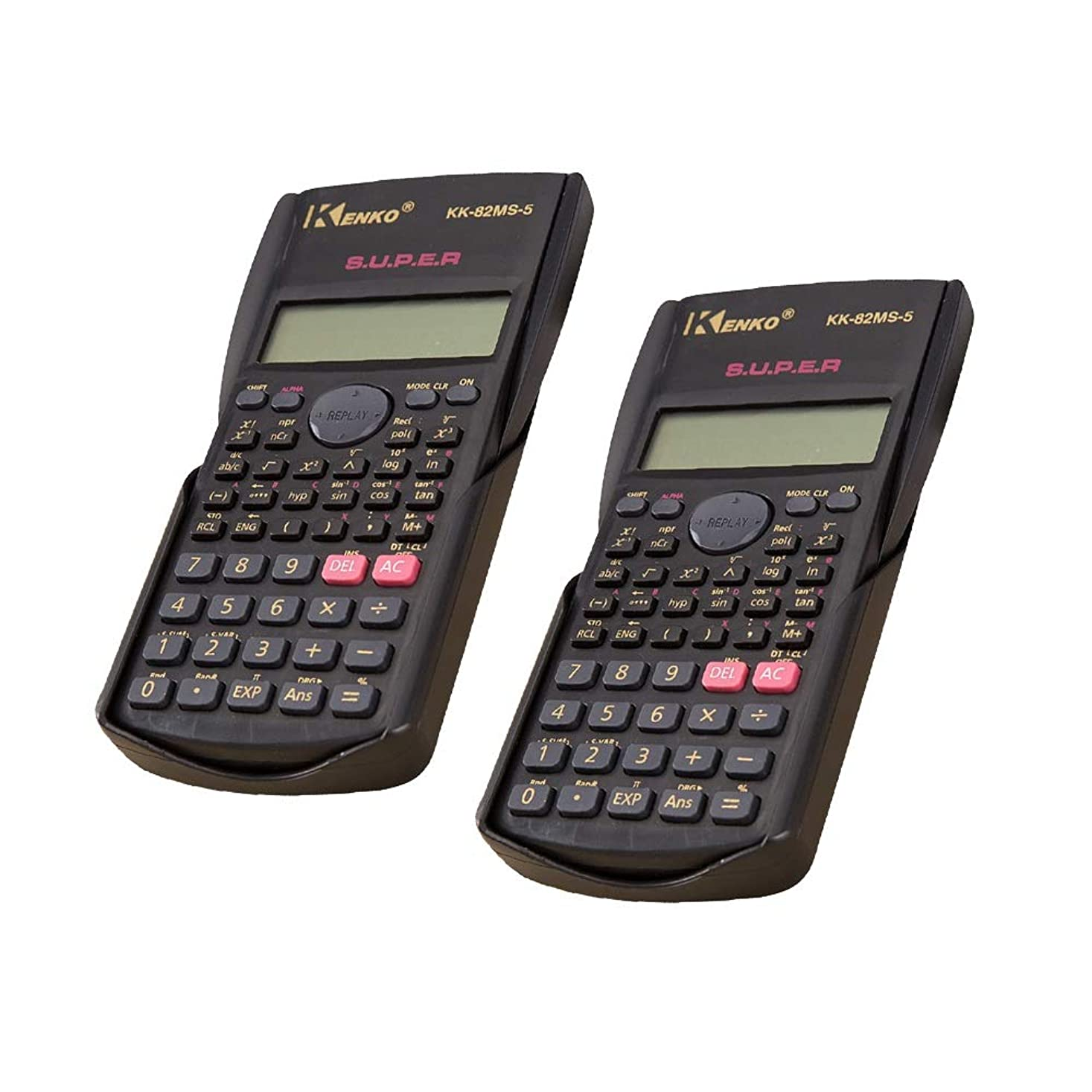 毒液照らすラインナップ2個電卓科学/学校電卓多機能2行表示、バッテリー(含まれない)電源、色:黒 標準機能エレクトロニクス電卓 (色 : Photo Color, サイズ : ワンサイズ)