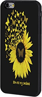 iPhone 6/6s Plus Case,BOSLIVE You are My Sunshine Butterfly Sunflower Background Design TPU Slim Anti-Scratch Protective Cover Case for iPhone 6/6s Plus 5.5