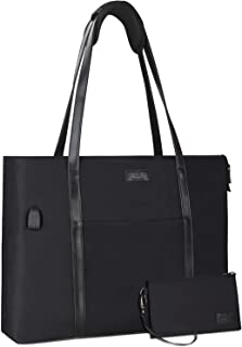 Laptop Tote Bag for Women Teacher Work Office USB Bags Fits 15.6 inches Laptop
