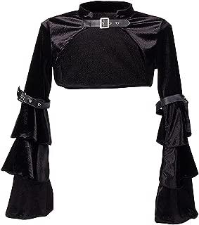 Killreal Women's Sexy Steampunk Gothic Bolero Long Sleeve Shrug Jacket