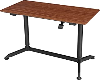 SONGMICS Large Standing Desk, Sit-Stand Table, Height Adjustable Workstation for Computers, Monitors and Laptops, Walnut Color ULAD08HB