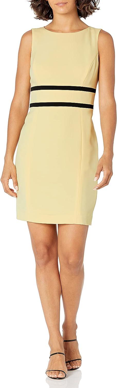 Le Suit Women's Wing Collar Kiss Front Stretch Crepe Contrast Dress Suit