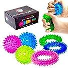 Sensory Spiky Set - 3 Spiky Fidget Rings & 3 Spiky Stress Balls - Best Sensory Fidget Toy for Kids with ADD, Autism, & Sensory Needs