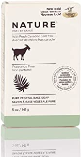 Nature By Canus Bar Soap, Fragrance Free, 5 Oz, With Fresh Canadian Goat Milk, Vitamin A, B3, Potassium, Zinc, and Selenium