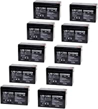 Universal Power Group UB1280 12V 8Ah Home Alarm Security System Battery - 10 Pack