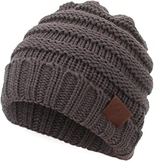 Aigemi Kids Baby Toddler Cable Ribbed Knit Children's Winter Hat Beanie Cap