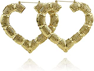 Best bamboo earrings heart Reviews