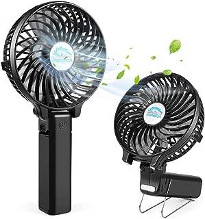 Mini Handheld Fan, Personal Portable Desktop Cart Desktop Fan With USB, Rechargeable Battery Powered Cooling Folding Fan Suitable For Travel Office Home Black