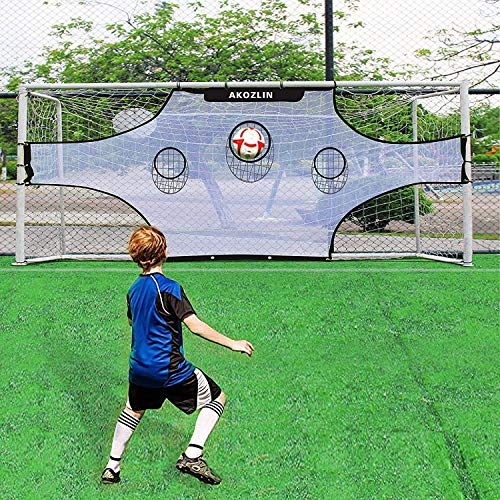 AKOZLIN Soccer Field Nets Target Sheets Attach to Your Goal for The Ultimate Accuracy Training Partner