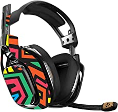 MightySkins Skin Compatible with Astro A40 Gaming Headset - Hyper   Protective, Durable, and Unique Vinyl Decal wrap Cover   Easy to Apply, Remove, and Change Styles   Made in The USA