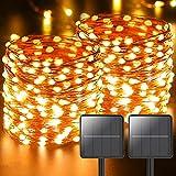 [2 Pack] Guirnaldas Luces Exterior Solar, Litogo 11M 110 LED...
